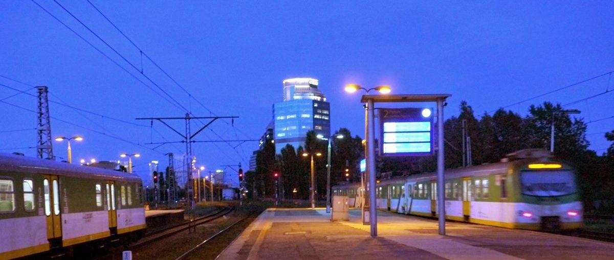 Warszawa Zachodnia Wieczorem 2014